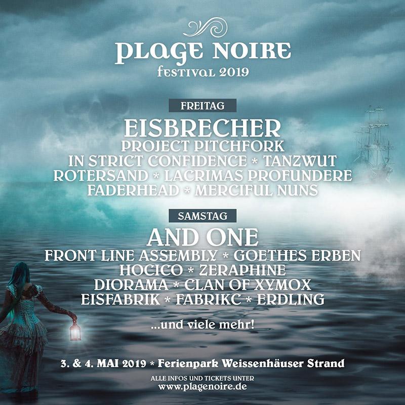 Plage Noire 2019 Line Up